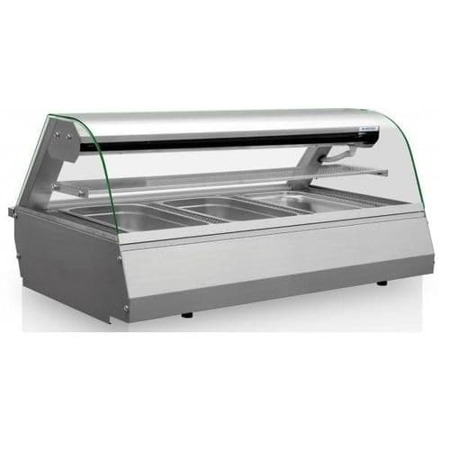 Igloo Celinac Curved Glass Counter Top Refrigerated Serveover Counter 1320mm Wide - COLD3